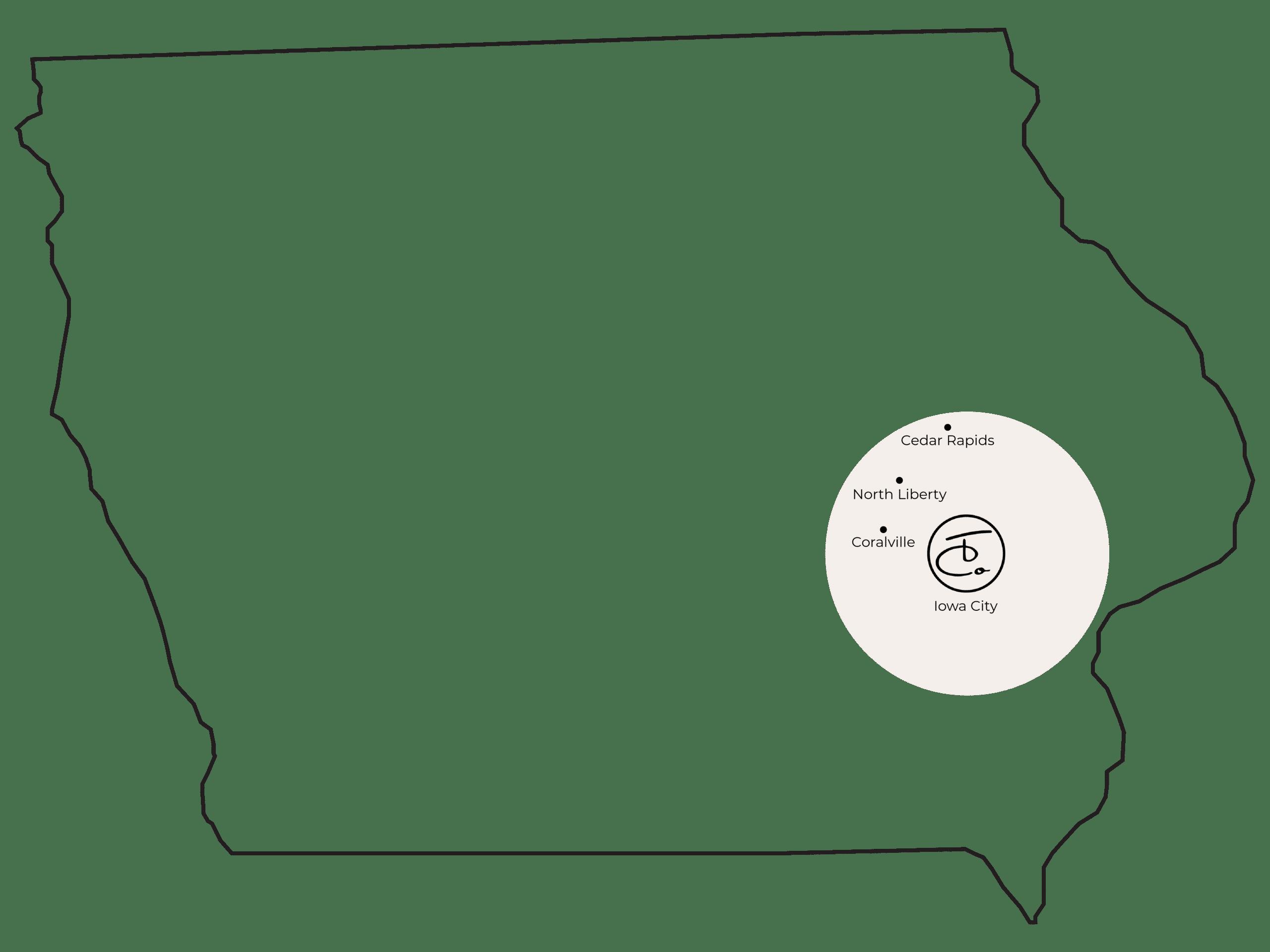 Iowa Map BW TCOlogos2 01